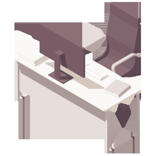 scrivania e sedia