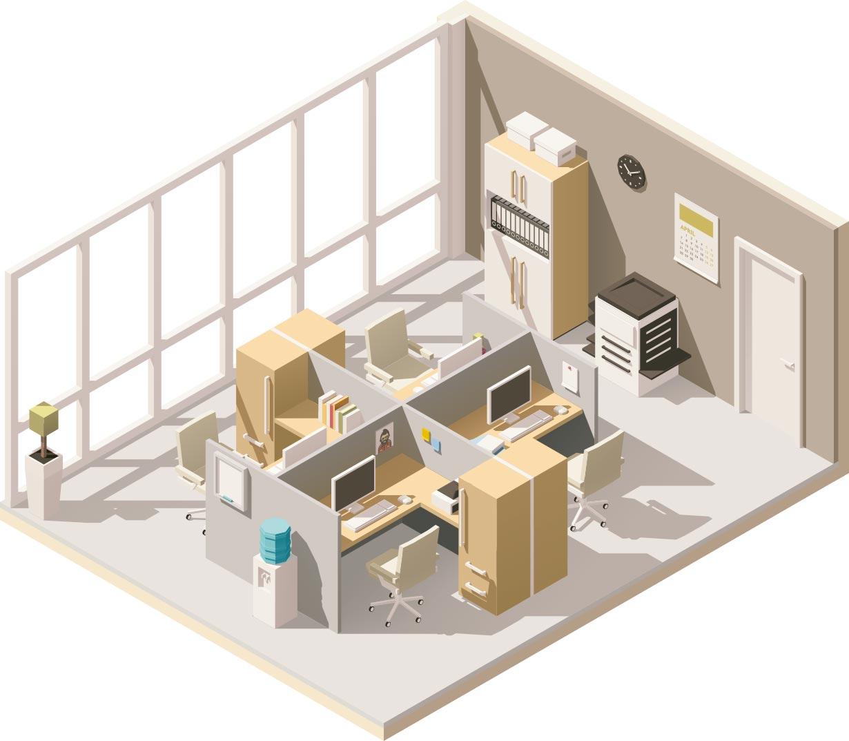 rendering ufficio